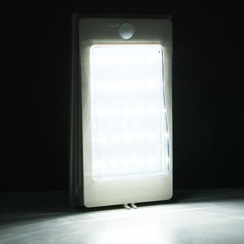 led lm luz blanca solar acampar ligero pared sensor 5