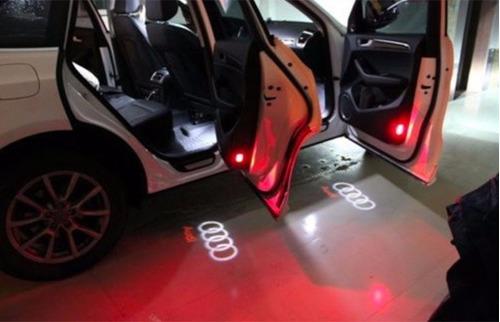 led luz de cortesia projetor porta logotipo audi par