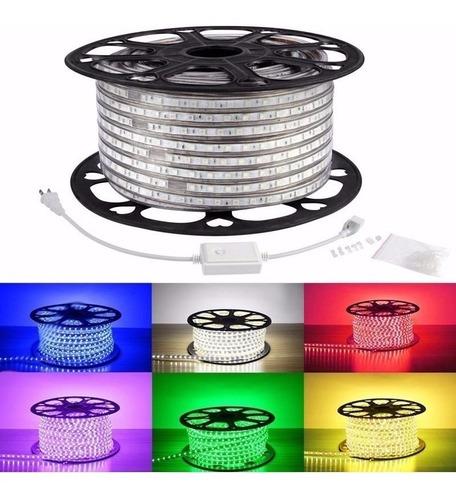 led manguera rgb 5050 varios colores flexible 10m+adaptador