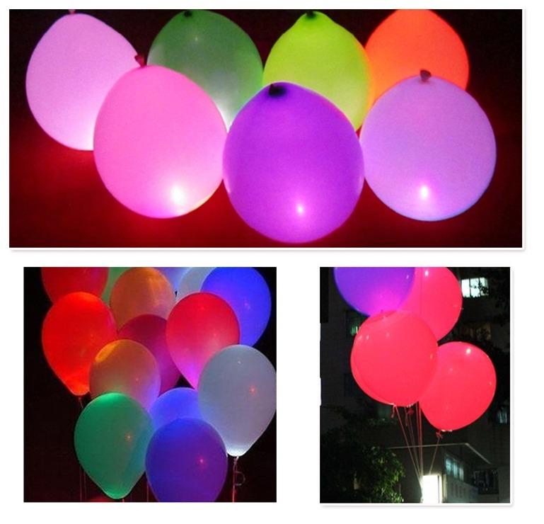 Led Mini Luz Para Balão Bexiga Festa 10 Unid Decoração R 2250 Em