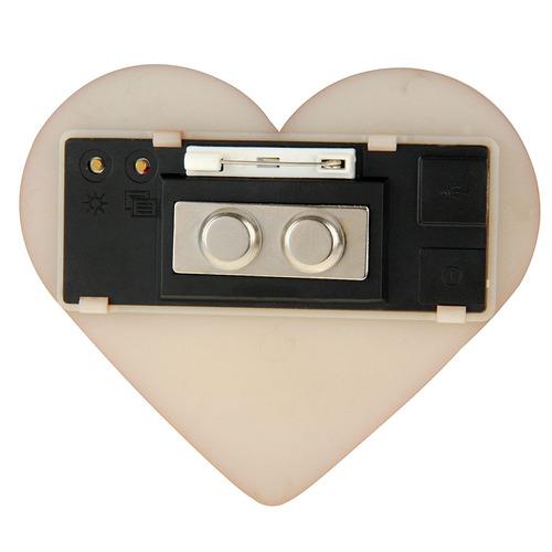 led modulo electronico forma corazon insignia conocida mini