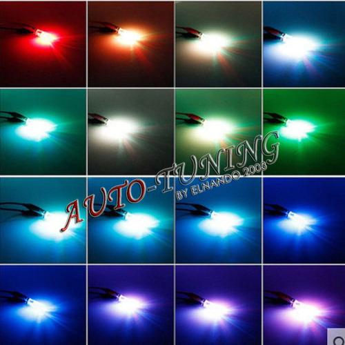 led multicolor t10 posicion con control remoto rgb x2 w5w