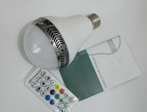 led music light= parlante 10w + iluminación led para hogar