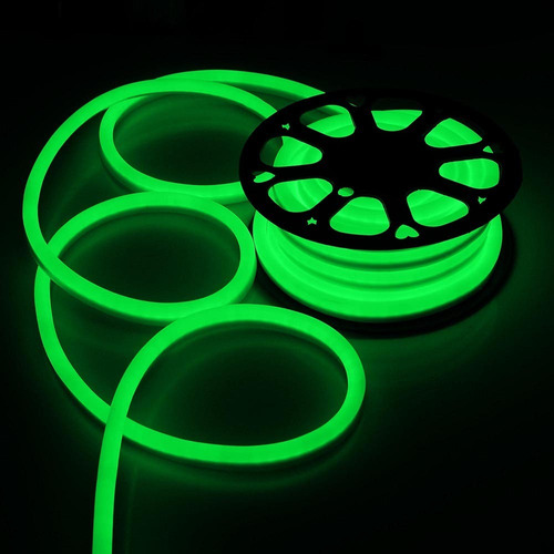 led neon flexible ip68 verde manguera 5m c/adaptador
