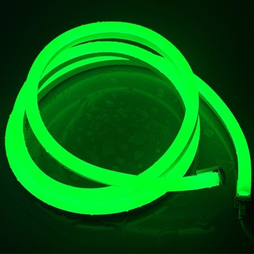led neon flexible ip68 verde manguera 5m c/adaptador