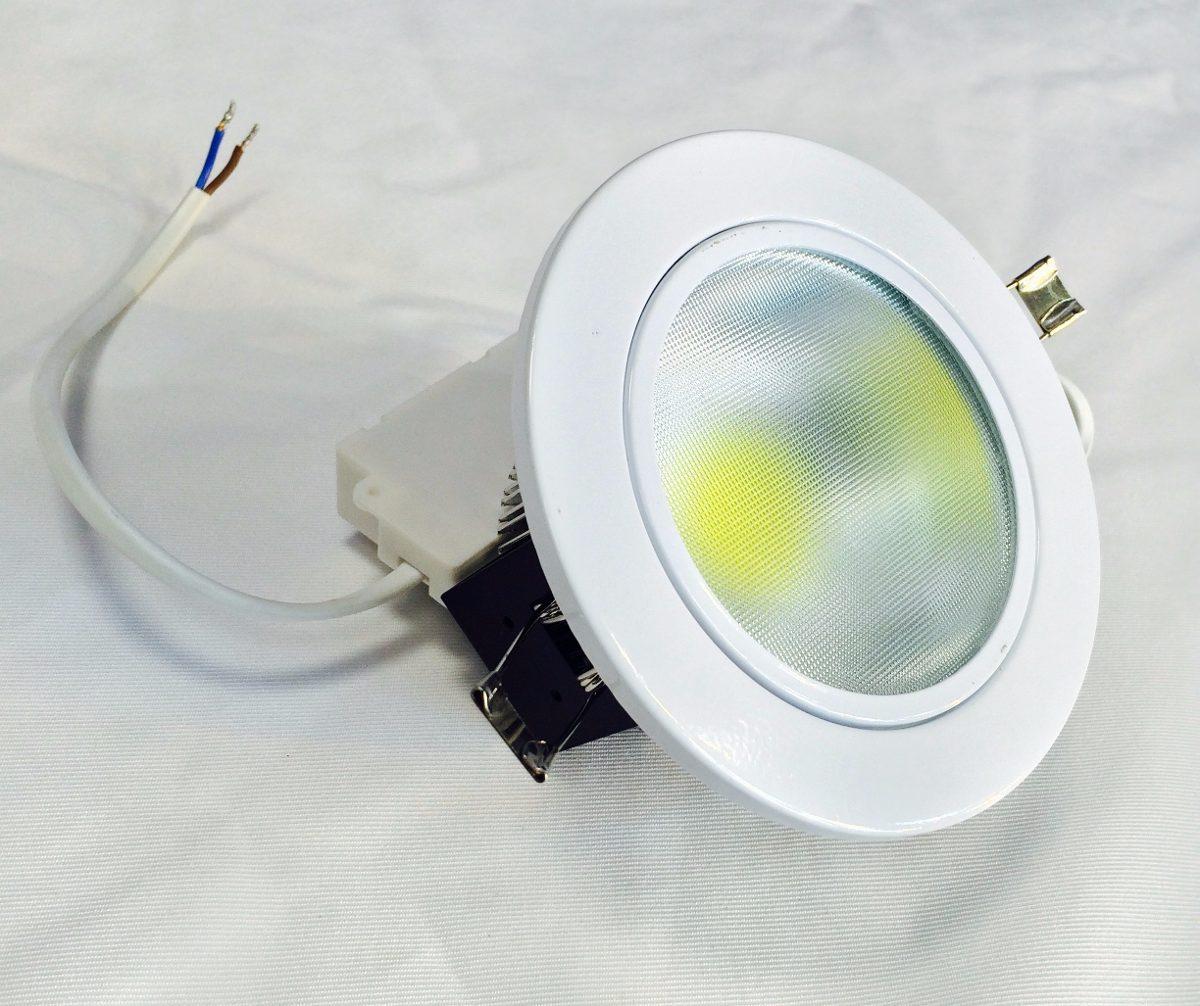Spot base empotrable led para techo 5w bote foco lampara for Focos led para cocina