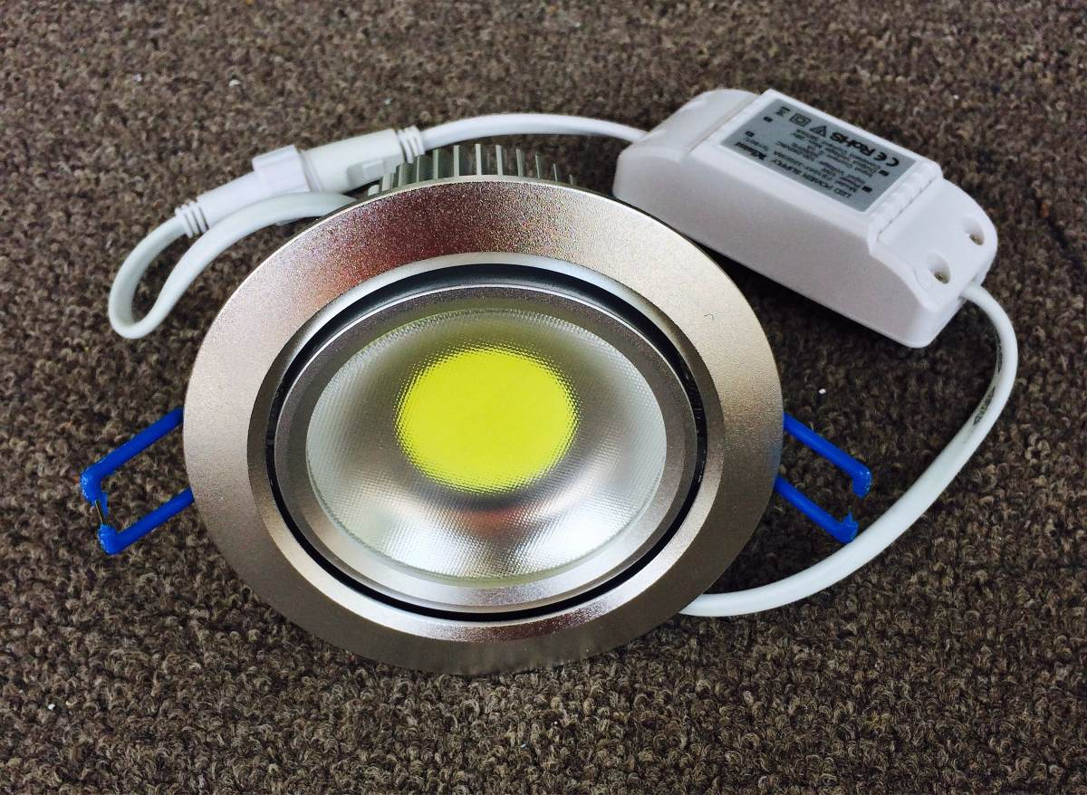 Spot base empotrable dirigible led para techo 10w bote for Focos led para cocina