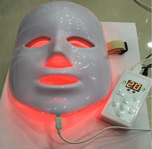 led para o rosto - máscara de luz 7 cores