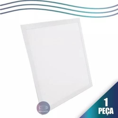 led plafon embutir painel slim 60x60 50w quadrado frio 6000k