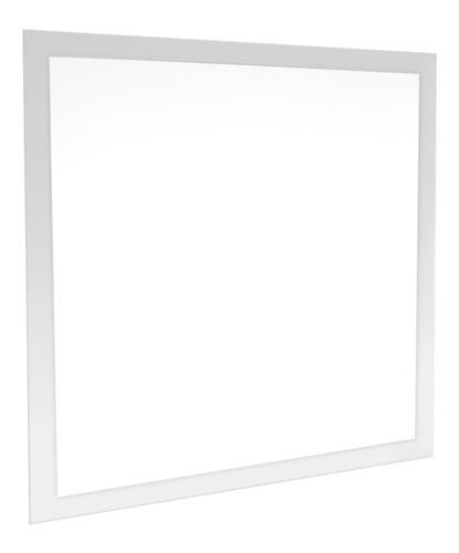 led plafon painel 50w 60x60 embutir quadrado luz quente