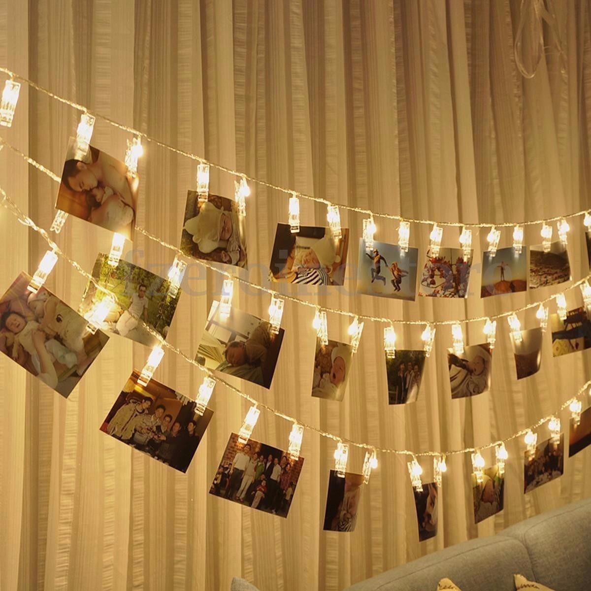 Led porta recado retrato varal fotos 10 pregadores a pilha r 30 00 em mercado livre - Lucine camera da letto ...