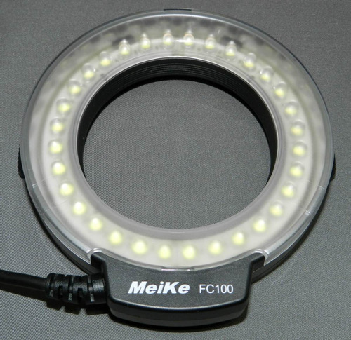 led pro macro ring flash / luz nikon canon fotografia macro