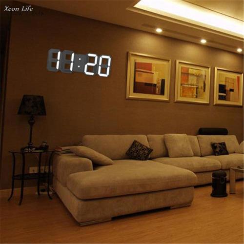 led reloj de mesa pared digital 115 colores control remoto