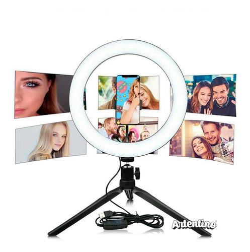 led ring aro luz celular tablet maquillaje selfie video foto