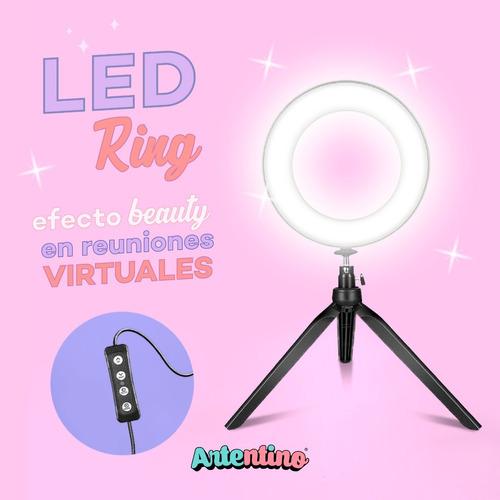 led ring aro luz trípode profesional maquillaje video foto