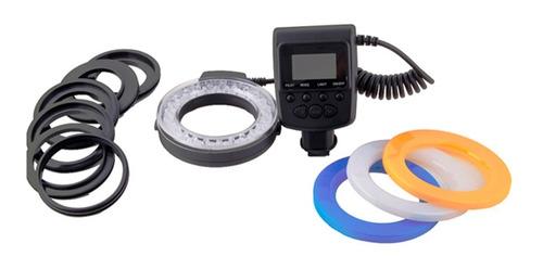 led ring flash   flash anular   anillos adaptadors y filtros