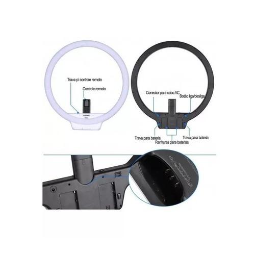 led ring light yongnuo yn608 completo + fonte + tripé 2m