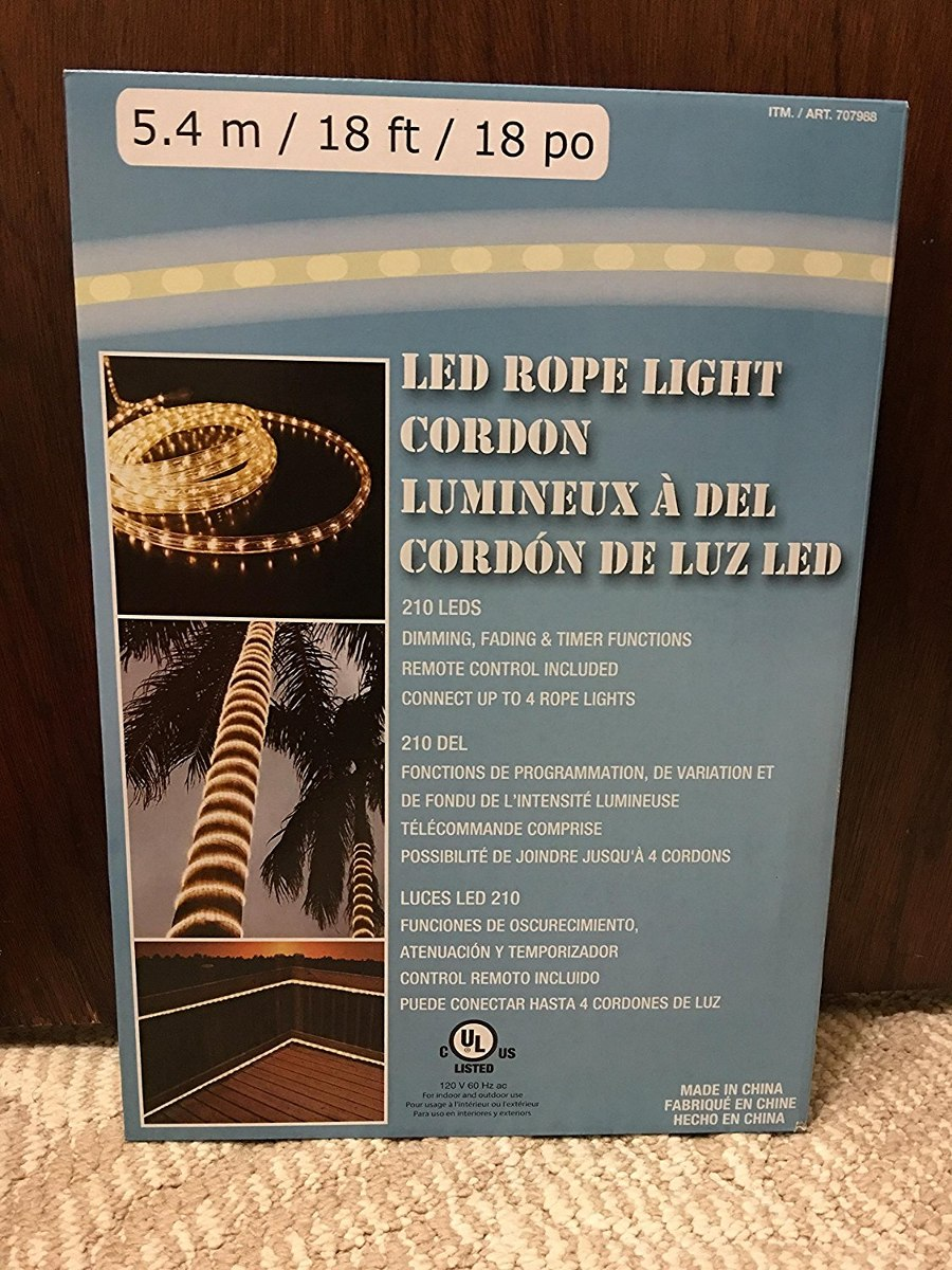 Led rope light 54m18ft18po 210 leds dimmingfading 127221 cargando zoom aloadofball Choice Image