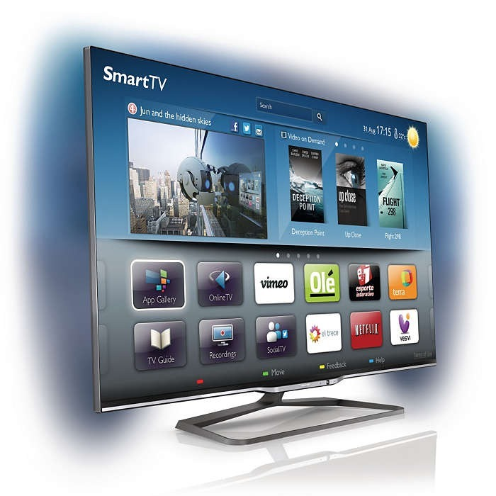 84d9c408b7bfd Led Smart Tv 3d 55 Philips Ultra Delgado Mod. 55pfl8008 77 ...