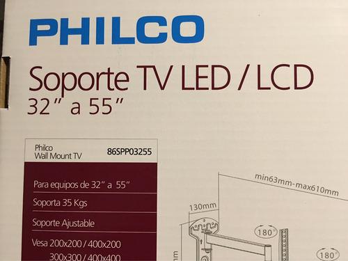 led smartv lg soporte de brazo marca philco anti temblores