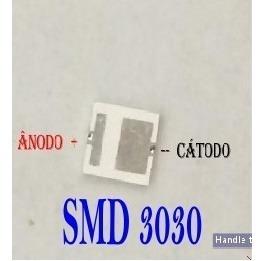 led smd 2835 3v 1w 3030 6v 1w (60 peças de cada) - 120 unidades