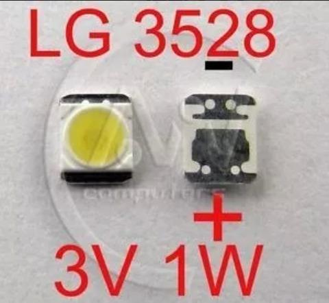 led smd 3 v y 6 v de 1 w y 2 w para tv 3528 o 2835