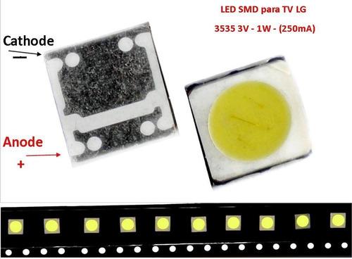 led smd 3535 para -tv lg - 3v. - 1w. 250ma (tira de 10 led)