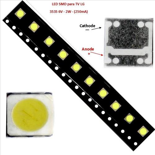 led smd 3535 para -tv lg - 6v. - 2w. 250ma (tira de 10 led)