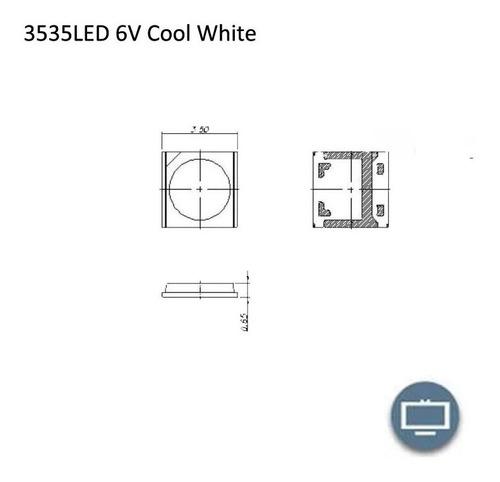 led smd lg original 2w 6v para luz de atras o blacklite