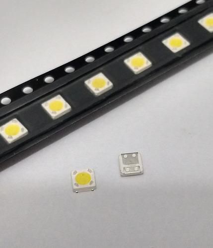 led smd tv 3735 3535 3v 1w lumens p/ linha fh samsung 100pcs