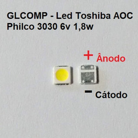 Led Smd Tv Sti Toshiba Aoc Philco 3030 6v 1,8w 100 Pçs Carta
