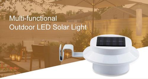 led solar luz valla césped camino de la lámpara jardín decor
