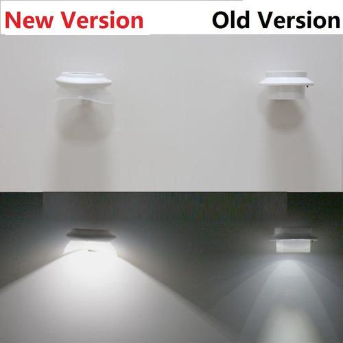 led solar luz valla inalámbrica de montado en la pared