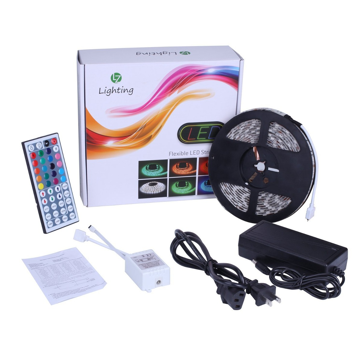 Led strip light kit waterproof ip65 rgb strip light 5050 hig rgb strip light 5050 hig cargando zoom aloadofball Choice Image