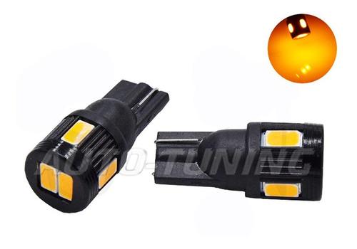 led t10 w5w posición giro 6 smd naranja potentes