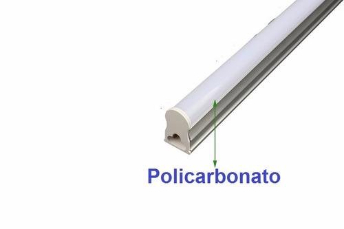 led tubular t5 60cm c/calha acoplada completa 10w