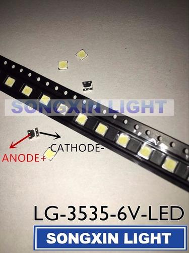 led tv lg innotek 3535 smd 2w 6v 150lm - r$ 1,30 cada-leia