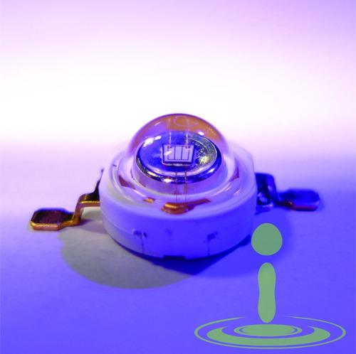 led ultra violeta uv 3w 3.2 - 3.6 vdc 390 nm 120 grados uv39