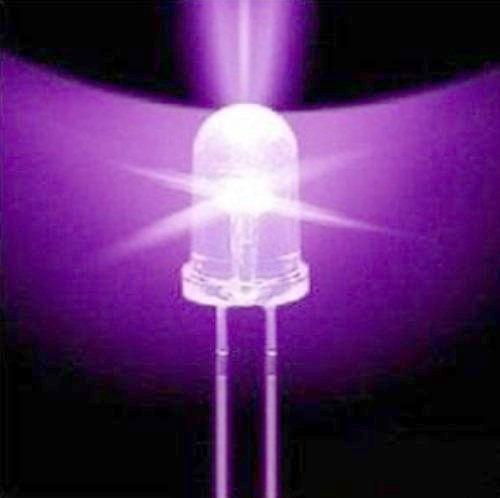 Led Uv F5 5mm Luz Ultra Violeta 390 395nm Ultralight S