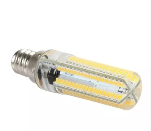 Lampada E12 Led Vela: Kit 10 Lâmpada Super Led Vela Cristal E14/152 Leds 12w
