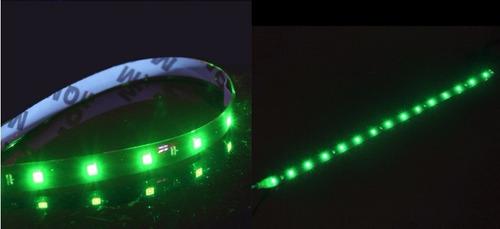 led verde carro fita tira adesivo (4 pçs) flexivel 30cm