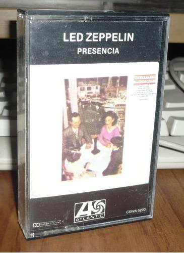 led zeppelin cassette tu presencia kct