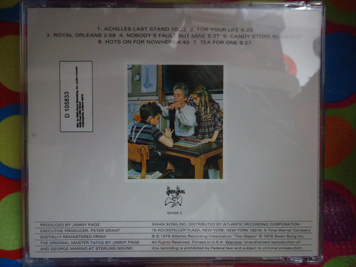 led zeppelin cd presence, usa, 1976