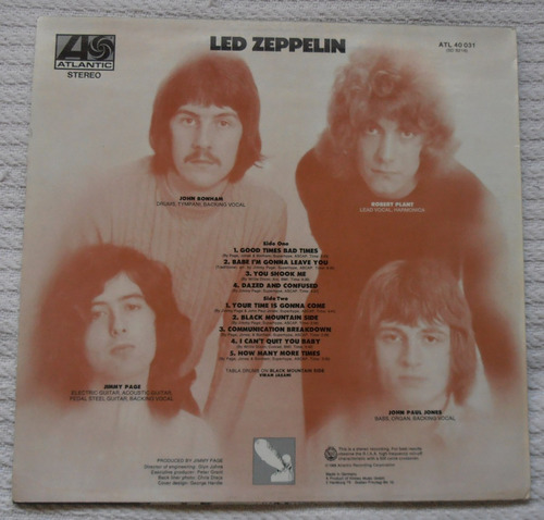 led zeppelin - i ( l p ed. alemana 1973 )