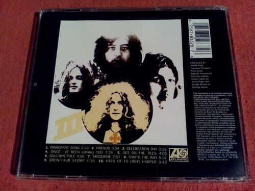led zeppelin - iii 3 cd nac ed 1994 mdisk