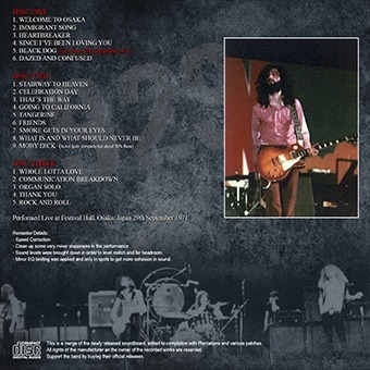 Led Zeppelin - Osaka, Jp Sept  29, 1971 3 Cd (coleccionable)