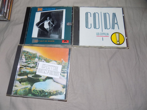 led zeppelin,  rainbow  cds importados