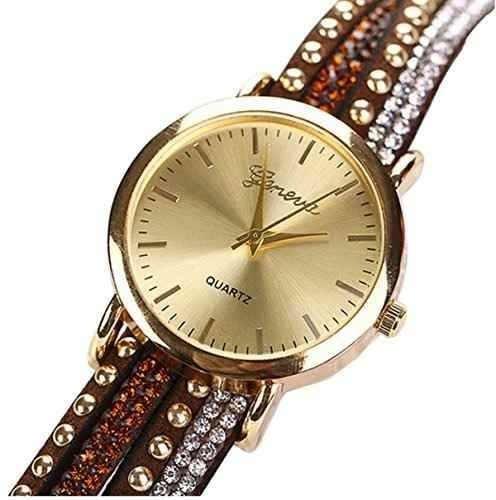 ledhill ginebra crystal rivet wrap pulsera muñeca reloj mar