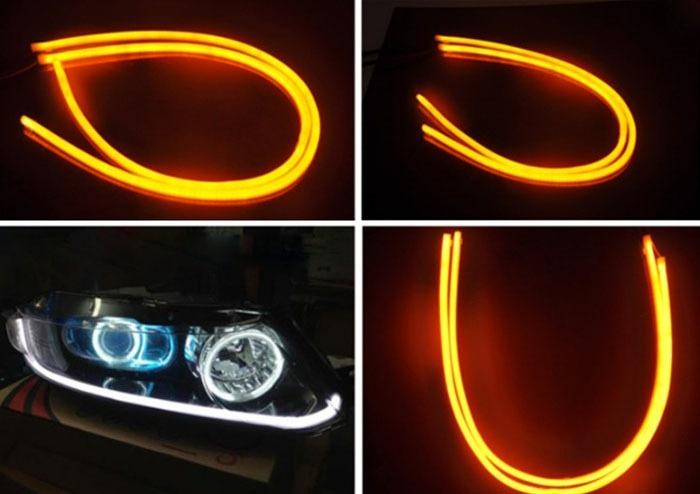 Leds ojo de angel tiras tipo audi luz de dia drl 700 - Tiras luces led ...