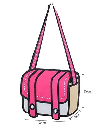 leegoal 3d salto dibujo 2d estilo de la bolsa de papel de l